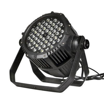 China Outdoor Waterproof LED Par Can Lights 54pcs 3W 3-In-1 LEDs For Large Concerts supplier