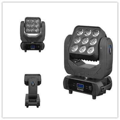 China Color disco light  longlifespan RGBW 9pcs 10W  LED Moving Head wash effect 15/21/49 channel supplier