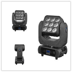 China Color Disco Lighting LED Wash Moving Head RGBW 9pcs 10W 15 / 21 / 49 Channel supplier