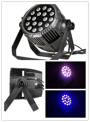 China Color Mixing IP65 RGBW LED Par Can Lights Long Life Span Low Power Consumption supplier