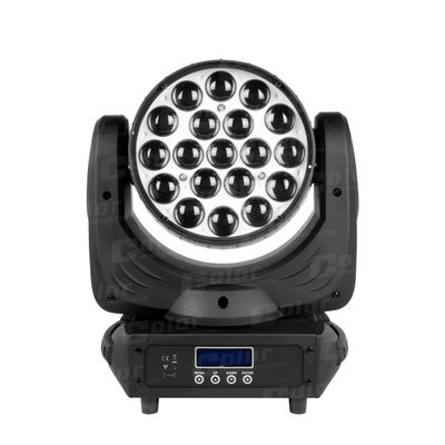 China 19 * 15W RGBW Moving Head LED Wash Zoom Concert Lighting with DMX 512 Control supplier