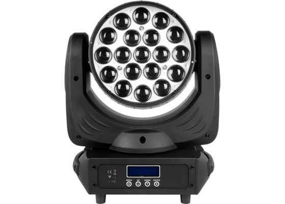 China Zoom 19pcs * 15W Led Moving Head Wash Concert / Wedding Stage Light Red Green Blue supplier