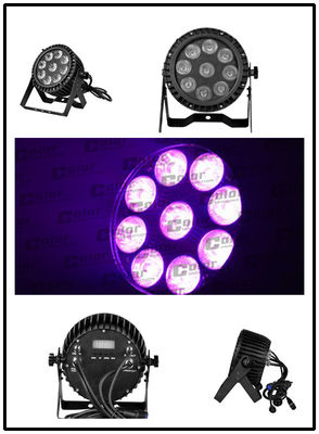 15W 5-in-1 LEDs RGBAW DMX512 LED Par Can Lights for small concerts / TV studio