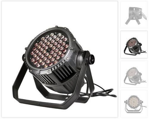 Outdoor 54 * 3W RGBW LED Par Can Lights 50000 Hours Life Span