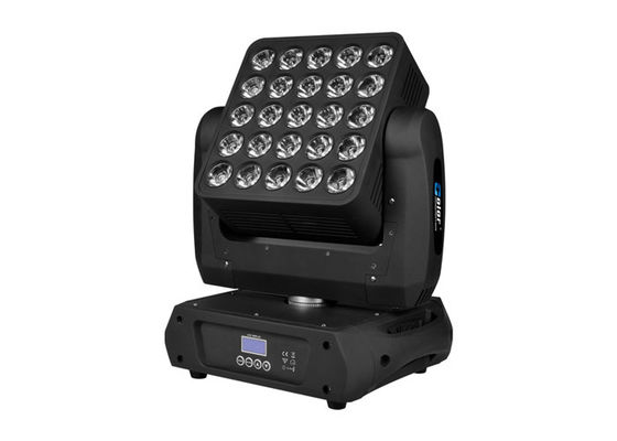25 * 10W RGBW Cree LED Stage Lighting With Artnet Control Moving Head Wash For Theater