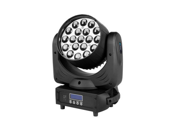 19pcs * 15W Led Wash Zoom Wedding Moving Head Stage Lights With Beam Effect