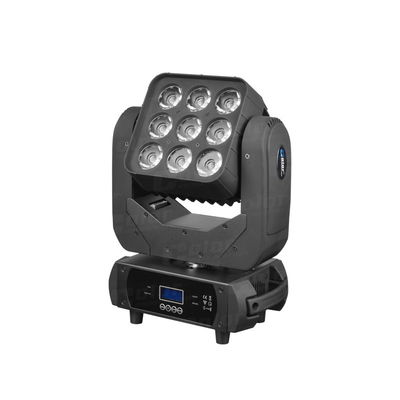 China 9 x 10W RGBW in 1 LED Stage Lighting Moving Head Wash ArtNet / KlingNet factory