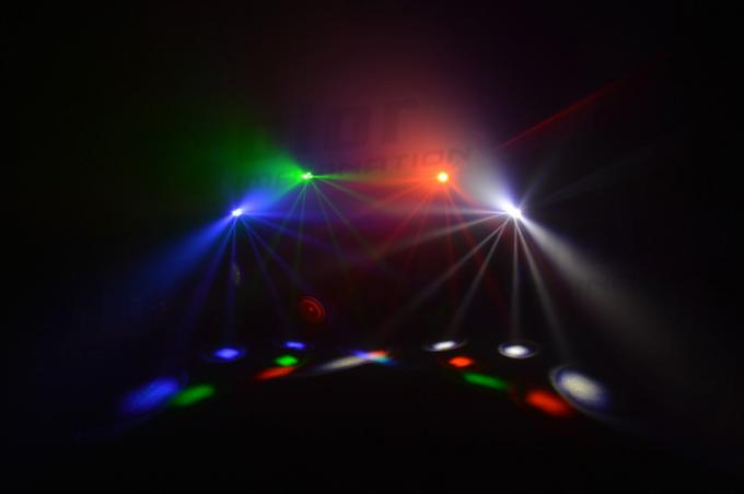 Color Disco Lighting LED Wash Moving Head RGBW 9pcs 10W 15 / 21 / 49 Channel